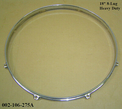 """18"""" 8-Lug Triple Flanged H/Duty Hoop / Ring / Rim For Toms, Drums 002-106-275A"""
