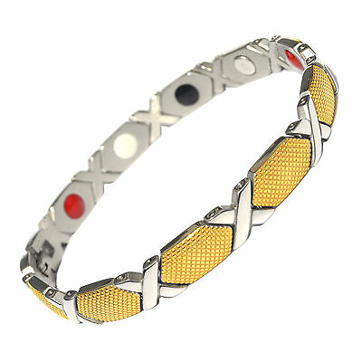 Ladies Strong Magnetic Therapy Bracelet Bio 4 In 1 Healing Arthritis Pain 013