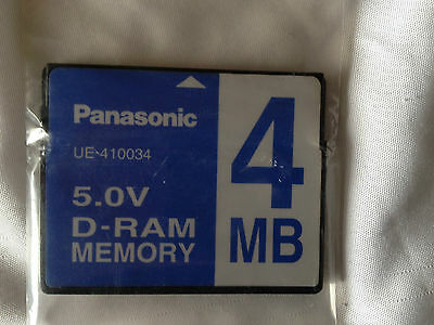 NEW Panasonic UE-410034 5.0V D-RAM Memory Card 4MB For UF-885 Printer