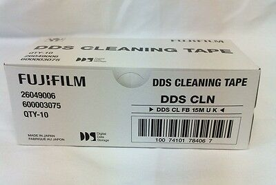 Lot Of 10 Fuji 600003075 4Mm Dds-1,2,3,4,5 Dat Cleaning Tape Cartridge-New
