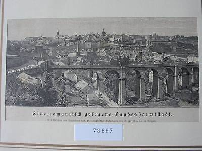 78887-Luxemburg-Luxembourg-T Holzstich-Wood engraving