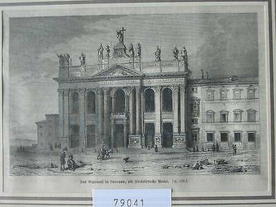 79041-Italien-Italy-Italia-San Giovanni-Laterano-T Holzstich-Wood engraving