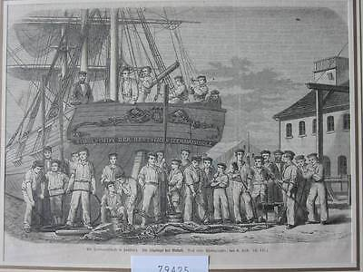79425-Hamburg-Seemansschule-T Holzstich-Wood engraving