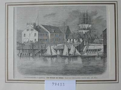 79433-Hamburg-Seemansschule-T Holzstich-Wood engraving
