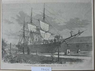 79426-Hamburg-Seemansschule-T Holzstich-Wood engraving