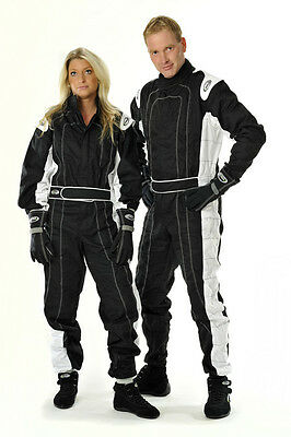 Speed Hobby Overall Schwarz weiß  Kartoverall Racing Suit Grösse: Large
