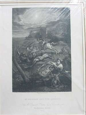 84355-St.George and the Dragon-Tintoretto-Stahlstich-steel engraving-1832