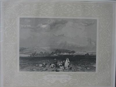 85084-Israel-Palästina-Palestine-Cana Gallilee Ornament-Stahlstich-engraving