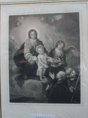 85502-Bibel-Bible-Madonna-Engel-Stahlstich-steel engraving
