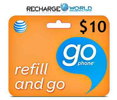 AT&T GoPhone $10 Refill.