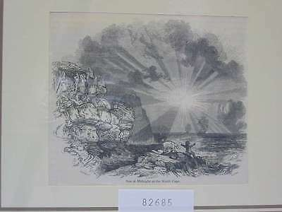82685-Norwegen-Norway-Norge-Nordkap-Northcape-T Holzstich-Wood engraving