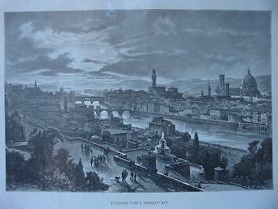 85888-Italien-Italy-Italia-Florenz-Firenze-Holzstich-wood Engraving
