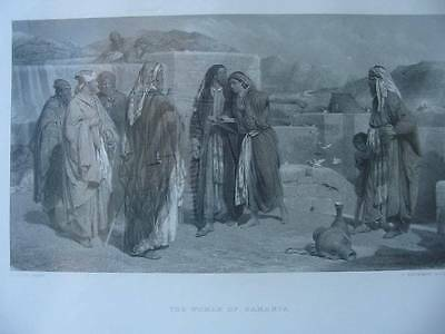86297-Bibel-Bible-The Woman of Samaria-Stahlstich-steel engraving