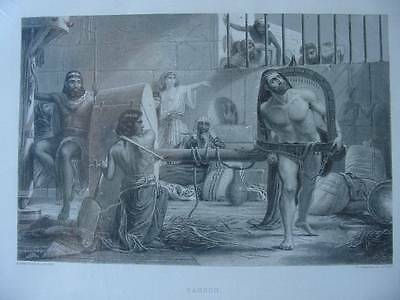 86302-Bibel-Bible-Samson-Stahlstich-Steel engraving