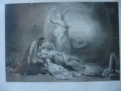 86296-Bibel-Bible-Jesus-Christ-Eve of the Flight-Engel-Stahlstich-engraving