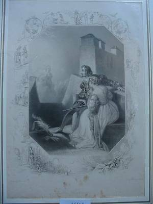 86353-Findens Tableaux-The Warning-Stahlstich-steel engraving