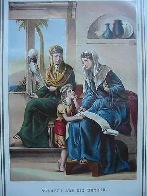 86486-Bibel-Bible-Timothy and his Mother-Lithographie