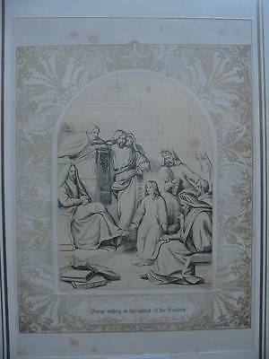 86624-Bibel-Bible-Jesus-Christ-Doctors-mit Ornament-Stahlstich-Steel engraving