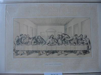 86623-Bibel-Bible-Jesus-Christ-Last Supper-Ornament-Stahlstich-Steel engraving