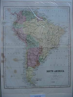 86638-South America-Süd Amerika-Landkarte-Map-Lithographie-Lithography