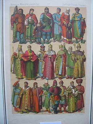 86799-Trachten-Costumes-Asien-Asia-Slaven-Russland-Lithographie