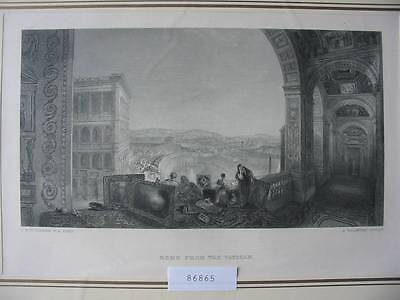86865-William Turner-Rome From The Vatican-Rom-Roma-Stahlstich-steel engraving