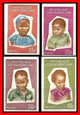 CENTRAL AFRICA 1964 CHILDREN imperforated SC#35-38  MNH