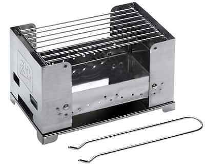 Esbit Stainless steel grill Camping BBQ- Box Folding Charcoal small