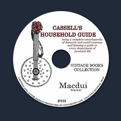 Cassell's Household Guide Encyclopaedia Home Economy Vintage Ebooks 3 Vol. 1 DVD
