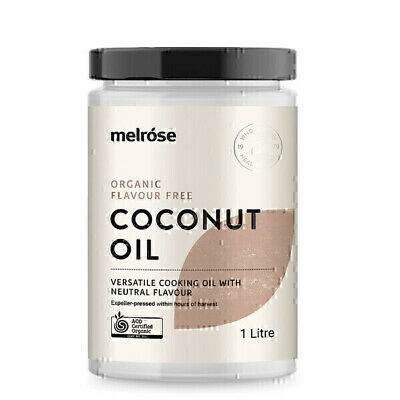 Melrose Organic Flavour Free Coconut Oil 1L | Refined Coconut Oil