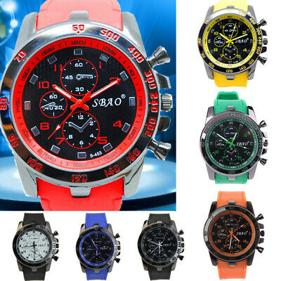 Stainless Steel Luxury Sport Analog Quartz Modern Men Fashion Wrist Watch HOT