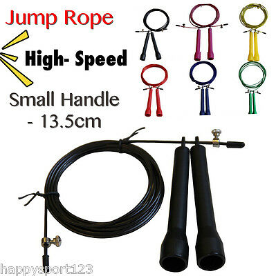 Jump Skip Rope Crossfit Speed Cable Wire Adjustable Length Cardio Heart MMA Gym