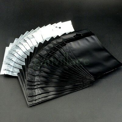100X Clear and Black Anti Static Shielding Bags ESD Reclosable Ziplock 9 x 15cm