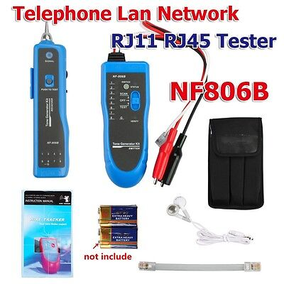 New NF806B RJ11 RJ45 Telephone Network LAN TV Cable Tester Wire Finder Tracker