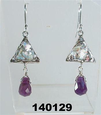 Silber Ohringe Roman Glass Earrings Jewellery verre romain schmuck ohren