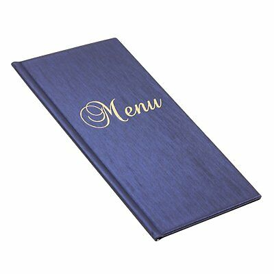 Menu restaurant pub holder sign bar catering luxury 1/2 A4 Hotel - Metallic Blue