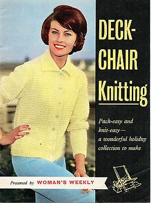 Deck Chair Knitting Pattern Booklet, Copy, Men/Womens Sweaters Cardigans