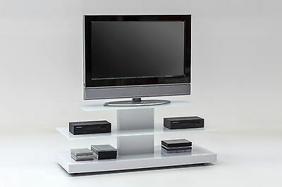 tv phonowagen hochglanz wei videowagen glastisch rollen rollbar tv tisch hifi eur 259 90. Black Bedroom Furniture Sets. Home Design Ideas