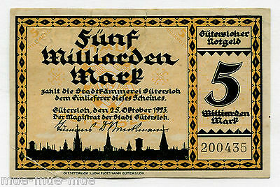 Gütersloh 5 Mrd. Mark 1923 III-
