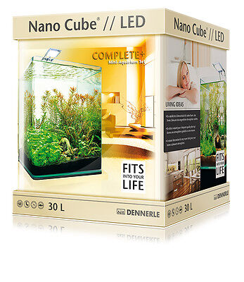 Dennerle Nano Cube 30L Complete Plus LED Aquarium Tank - Light Filter Substrate