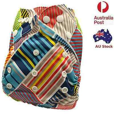 Print Modern Cloth Nappy Diaper MCN Washable Reusable Nappies Pocket nappy (D90)