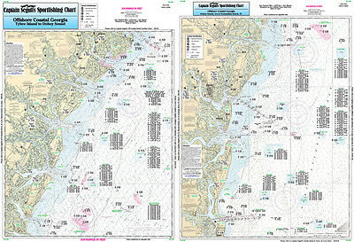 Fishing Map Off Coastal South Carolina (Winyah Bay) WIN28-BC South Atlantic