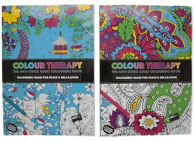 1 Art Colour Therapy Adult Anti Stress Relaxation Calm Colouring Book 64 Pages