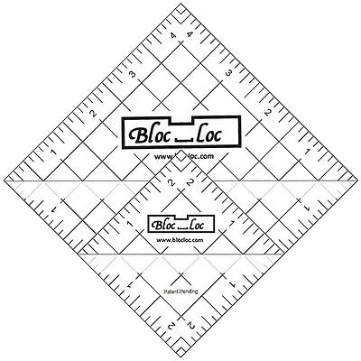 Bloc Loc Half Square Triangle Ruler Set #6-Includes two Acrylic Rulers 2.5 & 4.5