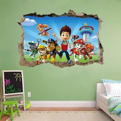 PAW PATROL Smashed Wall 3D Decal Removable Graphic Wall Sticker Mural Kids H149
