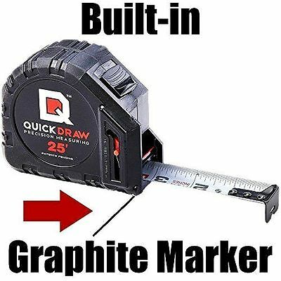 Quickdraw Precision Measuring Tape Contractor Grade 25 Self Marking tool New