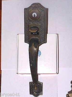 Large Antique Thumb Latch Entry Lock With Door Knocker