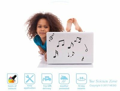 Music wall art notes vinyl decal stickers