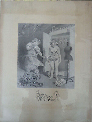 Vintage Adolphe Willette;7 signed Comedie Erotic lithos early 1900s INV2269