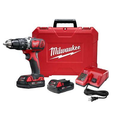 """Milwaukee 2607-22CT M18 18V XC  Cordless 1/2"""" Hammer Drill/Driver Kit with 2 Com"""
